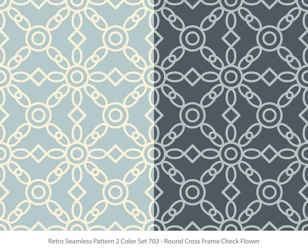 라운드 프레임 꽃과 완벽 한 패턴의 집합