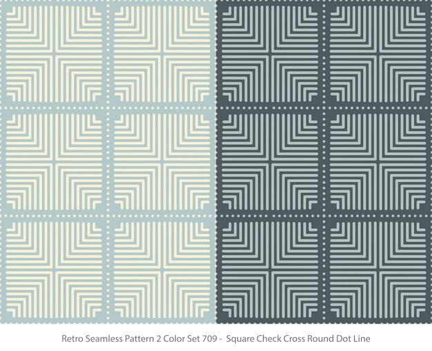 스퀘어 라운드 도트와 완벽 한 패턴의 집합