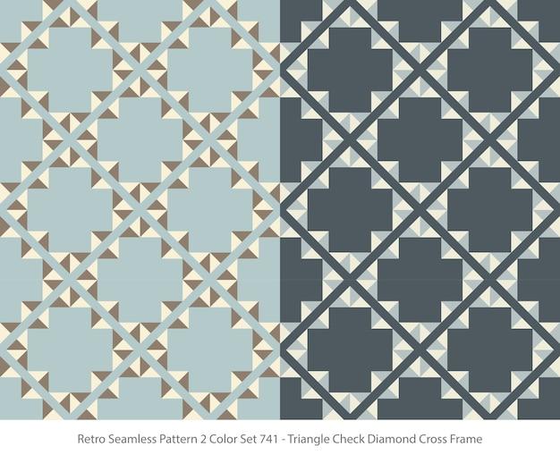 삼각형 다이아몬드 프레임으로 완벽 한 패턴의 집합