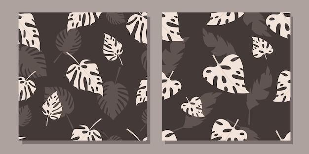 열 대 잎으로 완벽 한 패턴의 집합