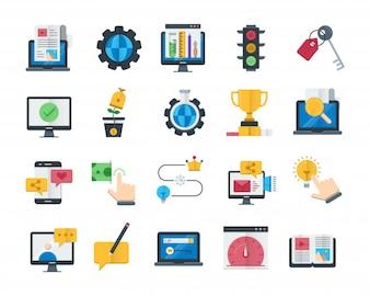Set of Search Engine Optimization Icons Set