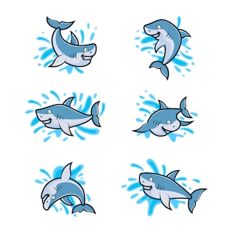 상어 로고 디자인 서식 파일의 설정