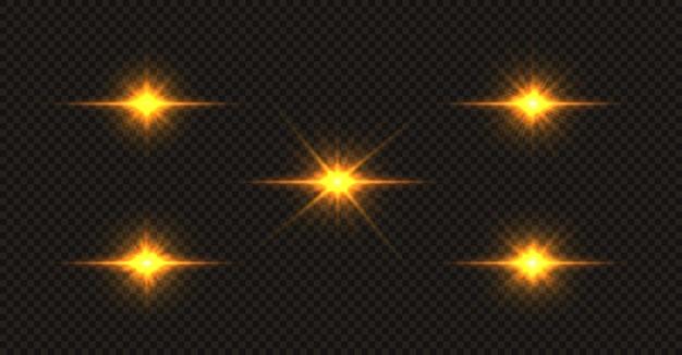 빛나는 황금 별 세트
