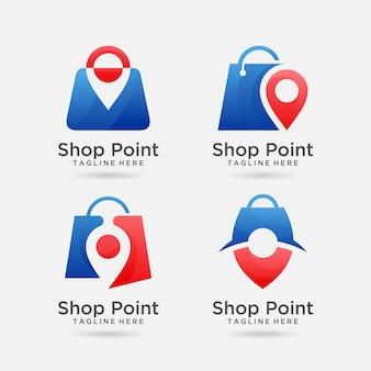 Набор дизайна логотипа точки магазина
