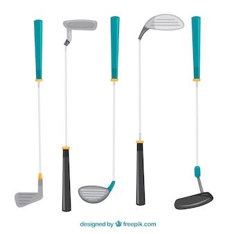 ゴルフのシルエットセット