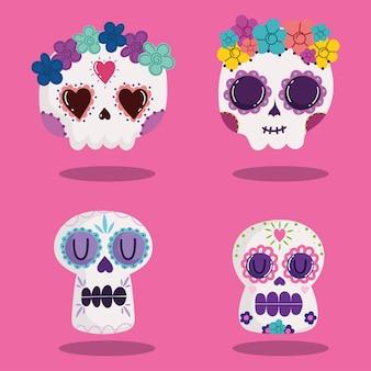 Набор черепов мексиканский