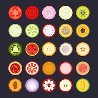 Иконка набор фруктов