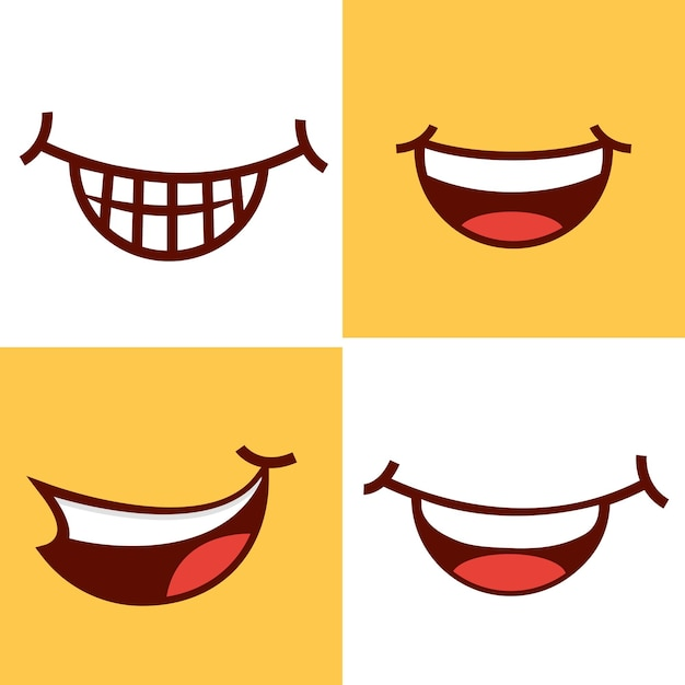 Набор улыбки рта