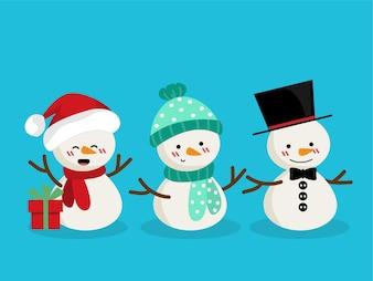 Set of Snowman for Christmas holiday season.