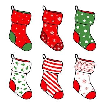 Набор носков для подарков с мультяшной коллекцией рождественских украшений