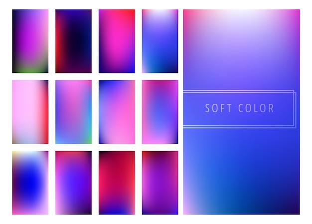 ソフトカラーグラデーションの背景のセット