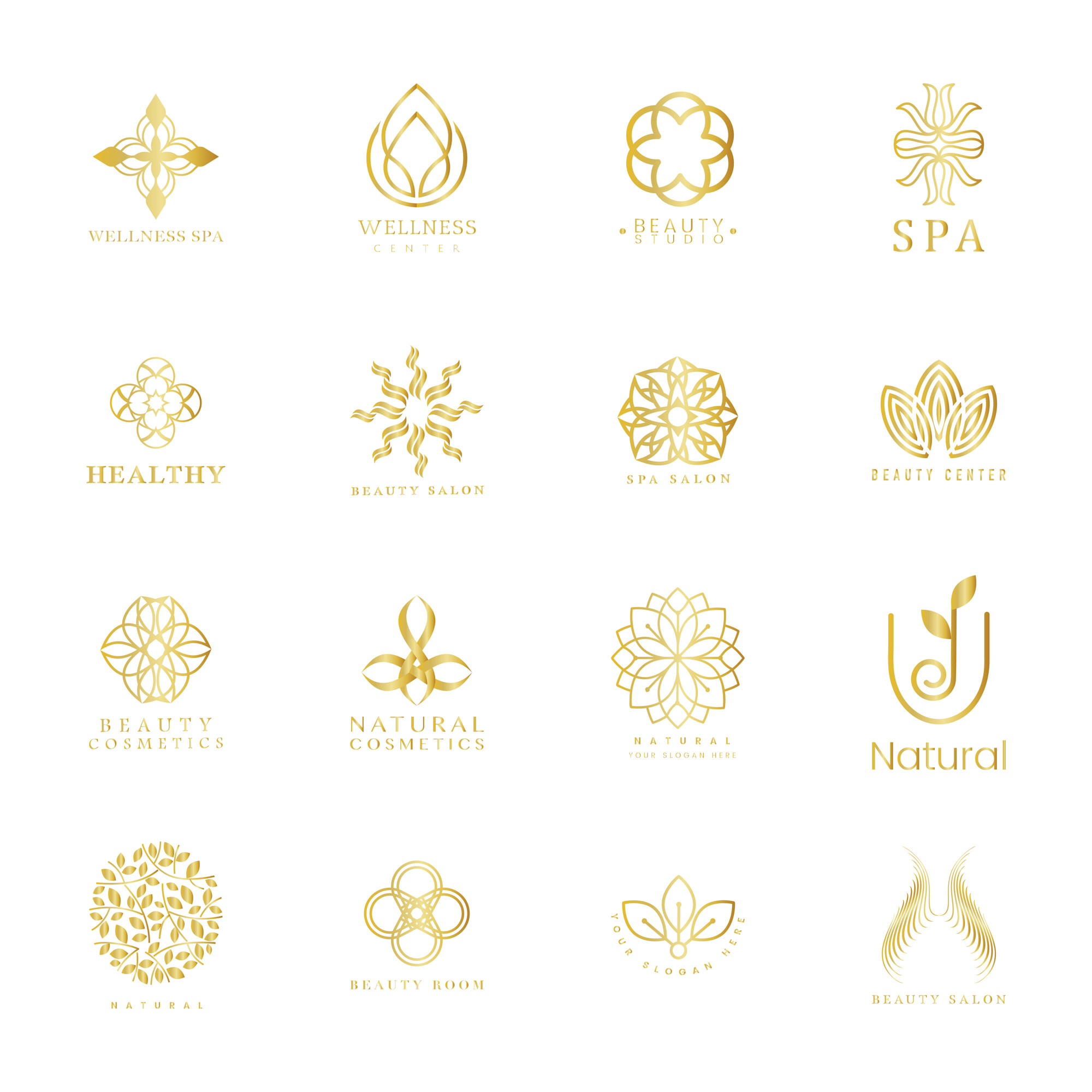 Set of spa and beauty logo