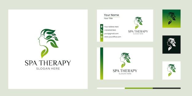 スパ療法のロゴの概念のセット