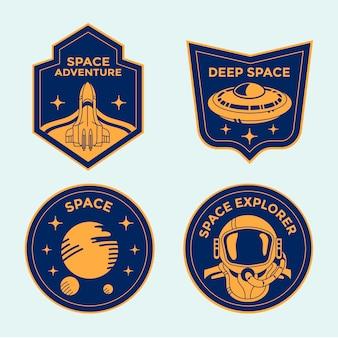 Набор значков космической миссии