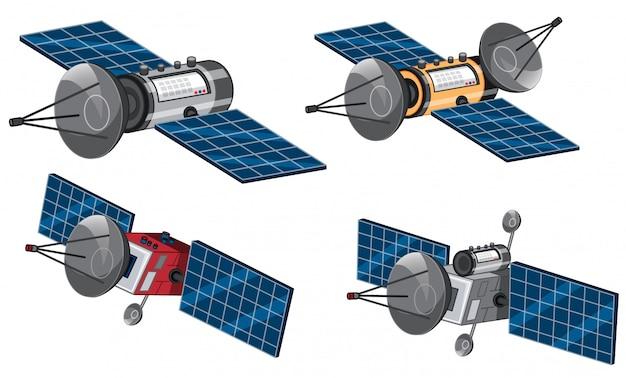 宇宙衛星のセット