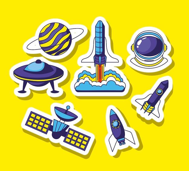 Набор космических наклеек