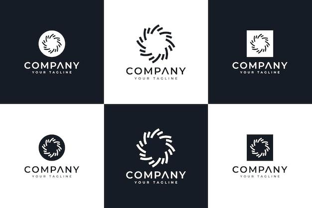 Набор искр логотип креативный дизайн для всех целей
