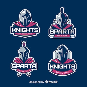 Set of spartan labels