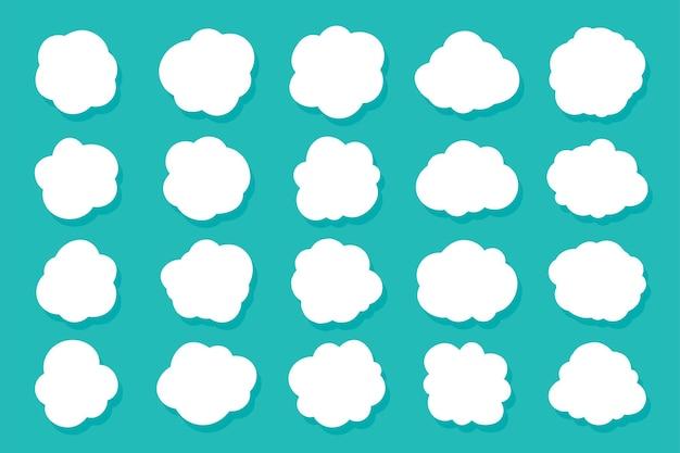 연설 거품 구름의 집합입니다. 만화