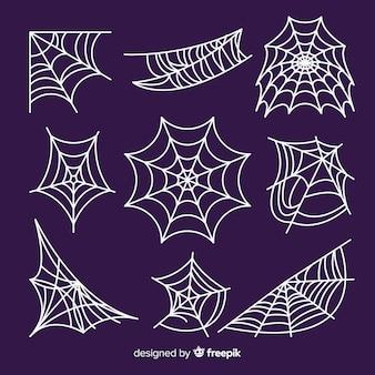 Set of spider webs