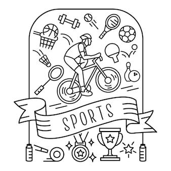 Набор спортивных значков Premium векторы