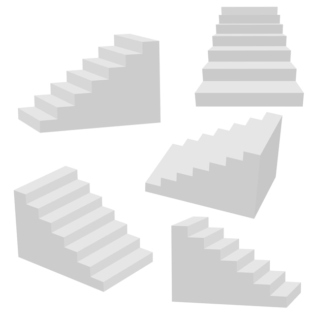 Набор изолированных лестниц.