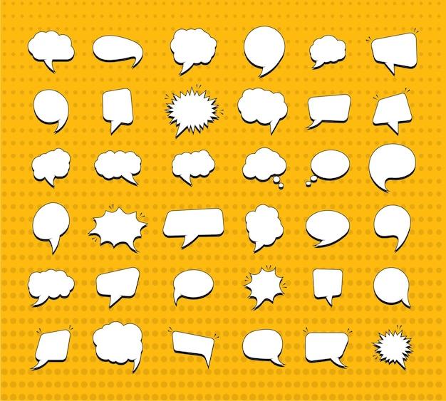 Набор наклеек речевых пузырей для комиксов