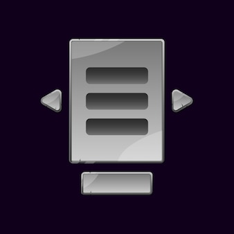 石のロックゲームのuiボードのセットがguiアセット要素のためにポップアップします