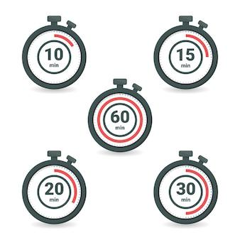 Набор секундомера с разным временем
