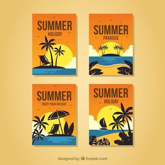 ビーチビューの夏のカードセット