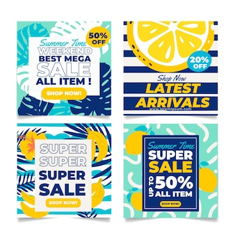 Набор летних открыток