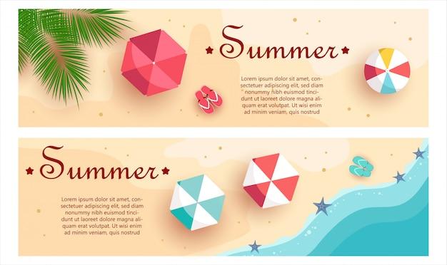 Набор летних подарочных сертификатов. необычный дизайн купона используется для приглашения, подарочной карты и сертификата.