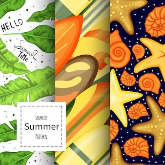 Набор летних узоров