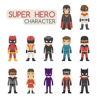 スーパーヒーロー衣装セット