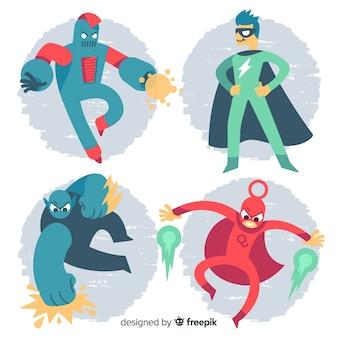 スーパーヒーローのセット