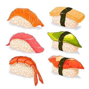 Набор суши иллюстрации