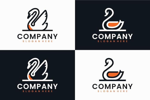 Набор лебедя, вдохновение для дизайна логотипа