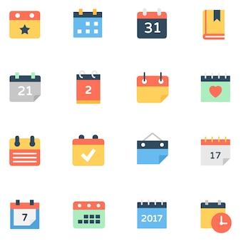 Набор иконок настольного календаря