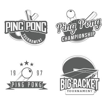 Набор элементов дизайна стола для настольного тенниса