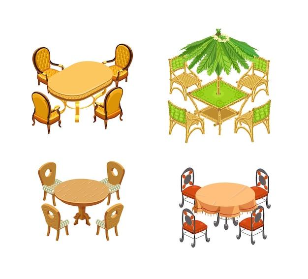 테이블과 의자 세트