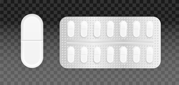 Набор таблеток в упаковке.