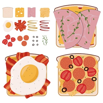 使用済み食材を使ったおいしいミートサンドイッチのセット
