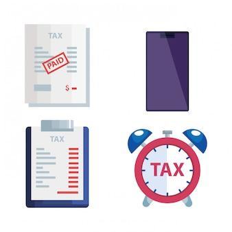 Набор иконок налогового дня