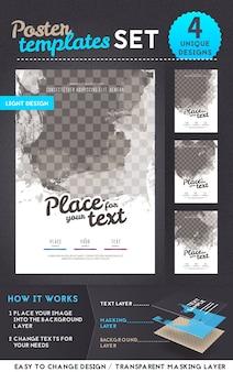 Набор шаблонов для дизайна плаката. векторная иллюстрация