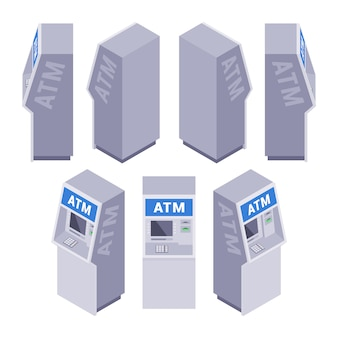 Набор изометрических банкоматов