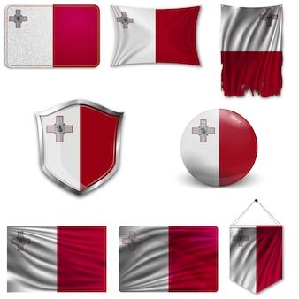 マルタの国旗のセット