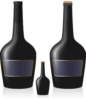 Набор открытых и закрытых бутылок