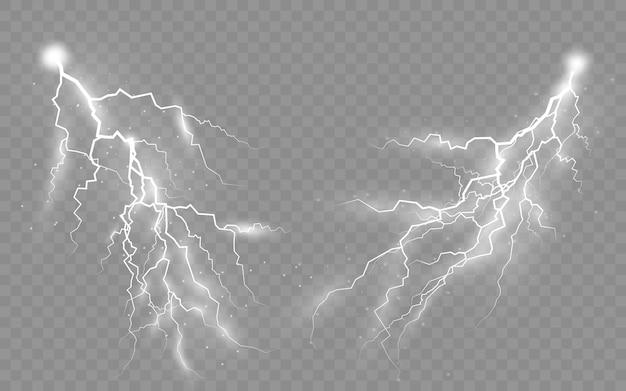雷雨と雷のセット