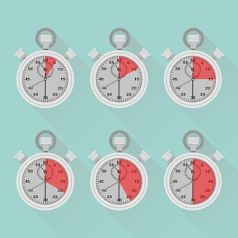Набор таймера, секундомера, часов. метка времени приготовления