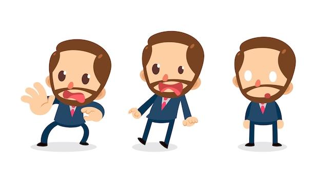 Набор малюсенького бизнесмена в действиях